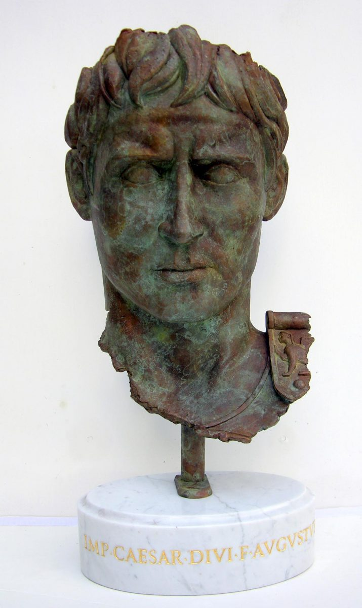 Caesar Augustus, mask, 340mm x 200mm, bronze, edition of 9