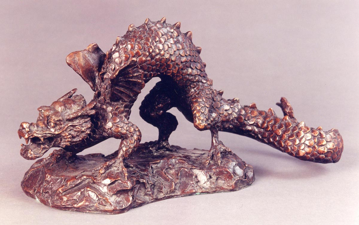 Dragon, 400mm x 120mm x 110mm, bronze, edition of 20